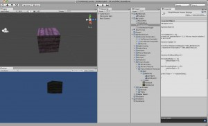 Unity 3d interface with cube